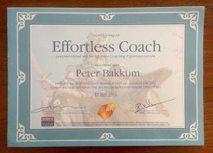 Certificaat Effortless Coaching