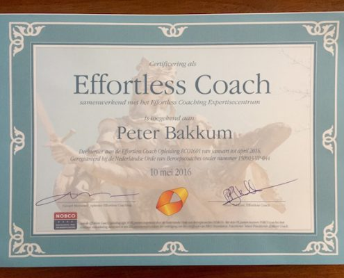 Certificaat Effortless Coaching
