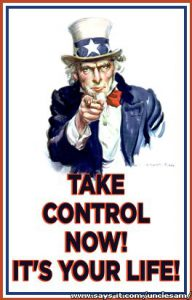 take control now! It is your life!